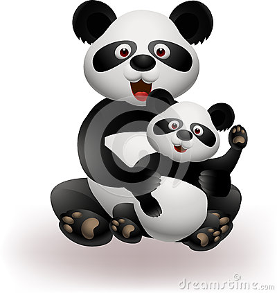 Mother and baby panda