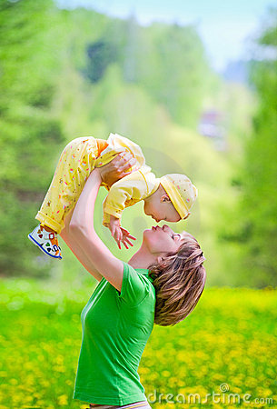 Mother with baby in the park Royalty Free Stock Images - Image: 14544659