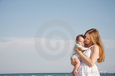 Free Stuff Baby On Royalty Stock Photo Mother And Sky Background Image