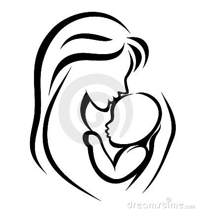 Mother and baby symbol Vector Illustration