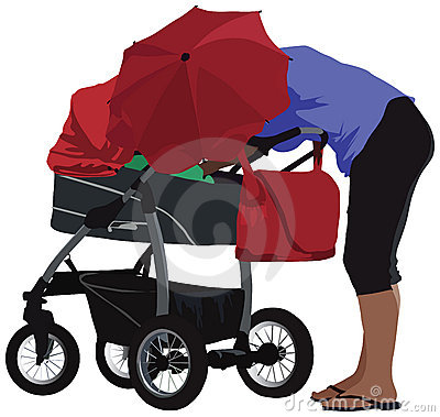 Mother and carriage