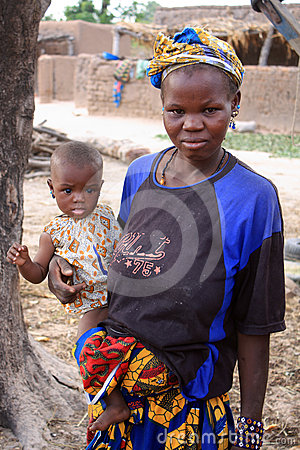 Mother and child in Africa Editorial Stock Photo