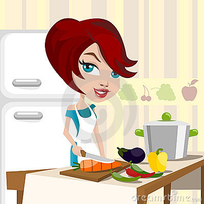 Free Mother Cooking Royalty Free Stock Image - 10597786