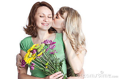 Mother and daughter celebrating mother s day