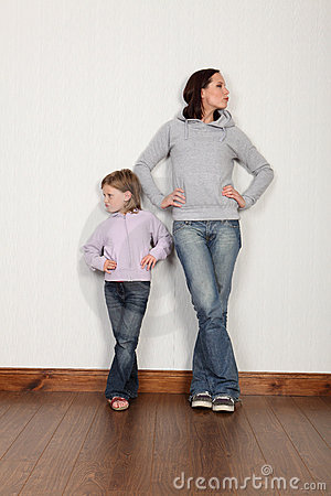 Free Mother Daughter Dispute Not Speaking And Angry Royalty Free Stock Photo - 21234885