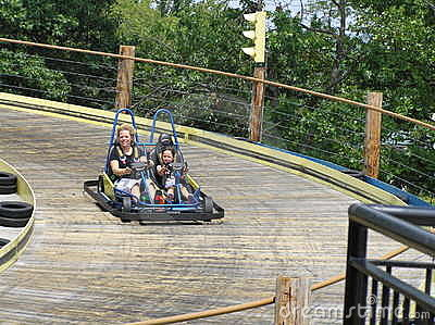 Mother and Daughter in Gocart