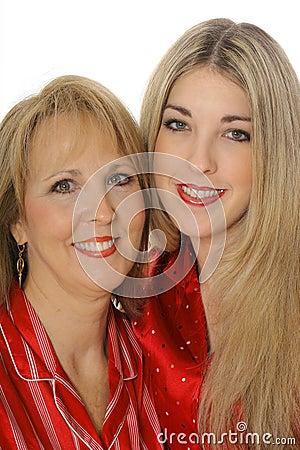 Mother daughter headshot