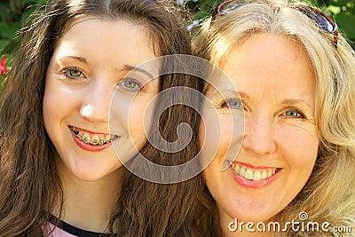 Mother daughter headshot upclose