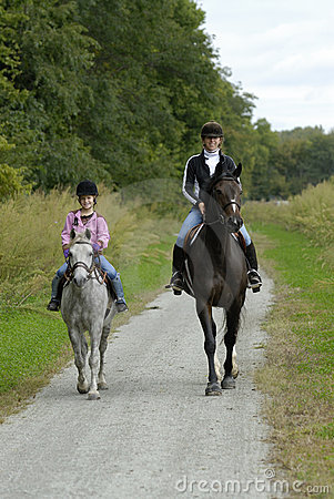 Free Mother Daughter Horse Ride Royalty Free Stock Photo - 2691305