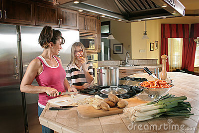 Mother And Daughter In Kitchen Royalty Free Stock Image - Image: 3618956