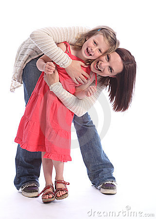 Free Mother Daughter Love Happy Fun And Laughter Royalty Free Stock Photos - 21211708