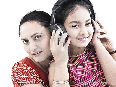 Mother, daughter and music