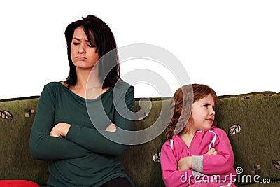 Mother and daughter quarrel