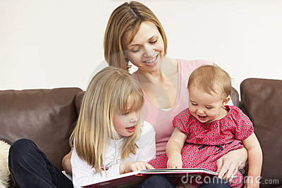 Mother And Daughters Reading Book