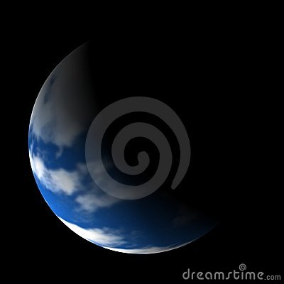 Mother Earth on a black background