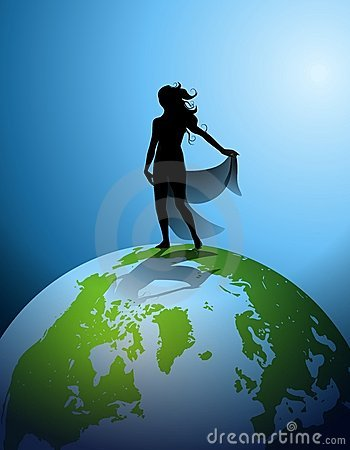 Mother Earth Human Silhouette 2