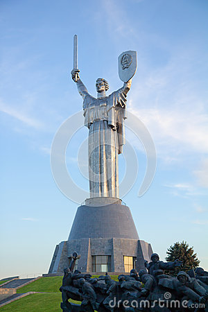 Mother of the Fatherland monument in Kyiv, Ukraine