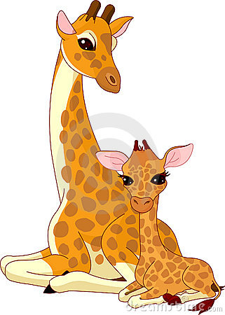 Free Mother-giraffe And Baby-giraffe Stock Photo - 14567390