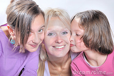 A mother  and her daughters