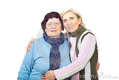 Mother with her senior daughter