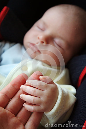 Mother Holding Baby s Hand