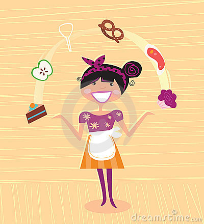 Free Mother - Kitchen Super Hero Stock Photography - 11679372