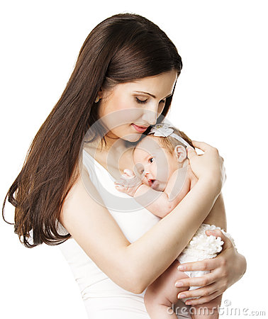 Free Mother Newborn Baby Family Portrait, Mom Embracing New Born Kid Royalty Free Stock Photo - 52087645