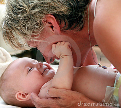 Free Mother Playing With Baby Stock Photo - 8412140