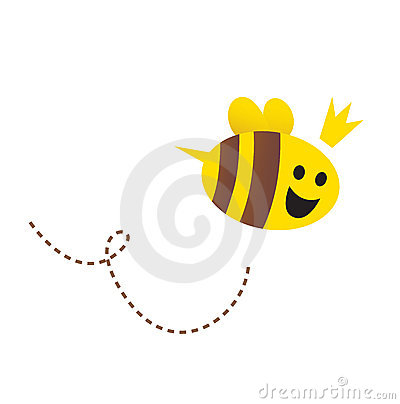 Mother / Queen bee isolated on white background