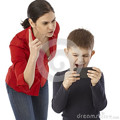 Free Mother Rebuking Naughty Little Boy Stock Image - 37715421