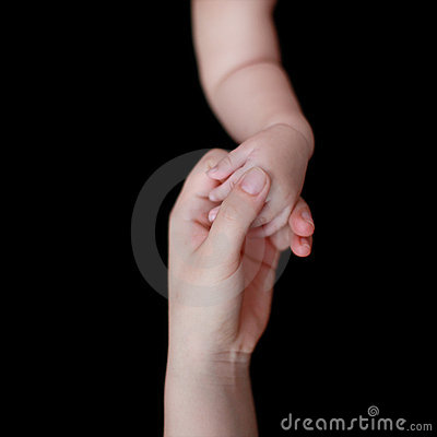 Mother s and baby s hands
