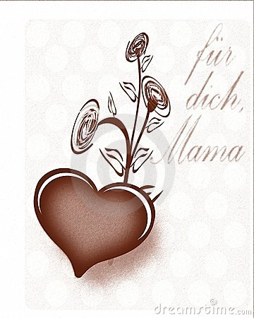 Mothers day greeting card in German