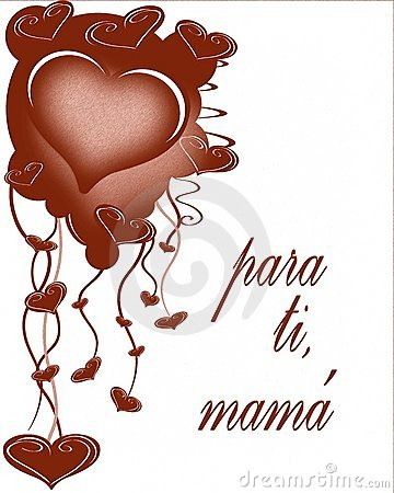 Mothers day greeting card in spanish