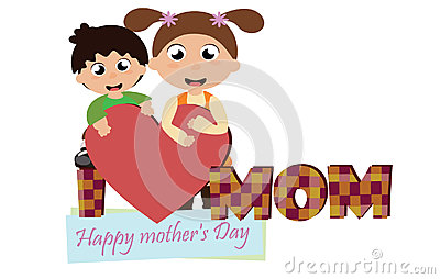 Mother`s day Vector Illustration