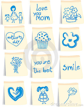 Free Mother`s Day Icon Set Stock Image - 9260291