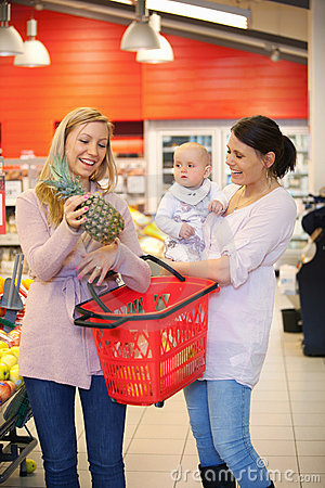 Mother Shopping with Friend