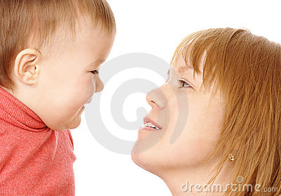 Mother Talking To Her Child Stock Photography - Image: 7843642
