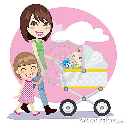 Free Mother Walking Stock Image - 18747481