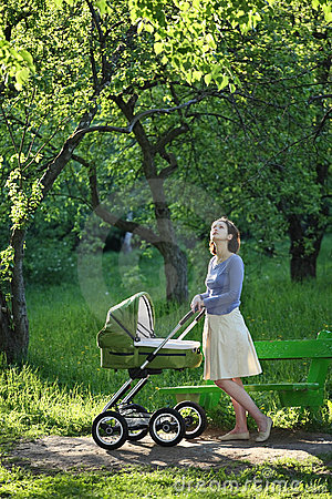 Free Mother With Baby Carriage Stock Images - 6578494