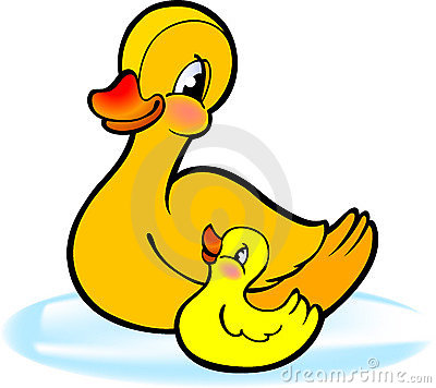 Free Mother With Baby Duckling Royalty Free Stock Photo - 8811575