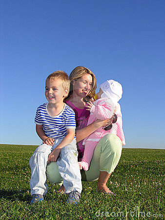 Free Mother With Children Stock Image - 237701
