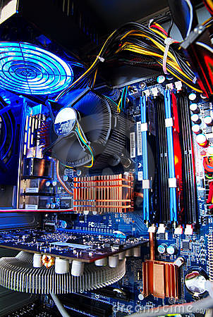 Free Motherboard At Work Stock Images - 4464084