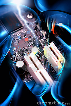 Free Motherboard PC Royalty Free Stock Photography - 7990677