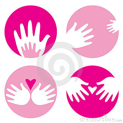 Motherhood, helpful hands icons