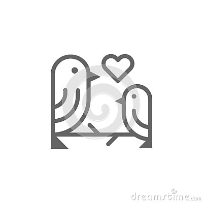 Free Mothers Day Birds Outline Icon. Element Of Mothers Day Illustration Icon. Signs And Symbols Can Be Used For Web, Logo, Mobile App Royalty Free Stock Image - 144777636
