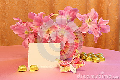 Mothers Day Card or Easter Image - Stock Photos