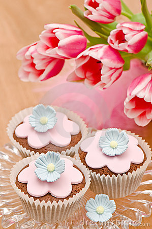Free Mothers Day Cupcakes Stock Photo - 13317120