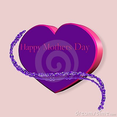 Mothers day heart and pearls