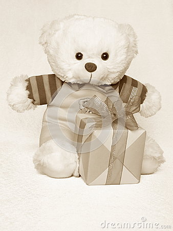 Mothers Day Picture of a Teddy Bear - Stock Photo