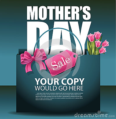 Free Mothers Day Sale Shopping Bag Design EPS 10 Vector Royalty Free Stock Images - 51233129